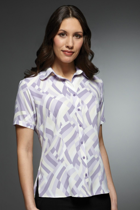 Chloe Printed Soft Touch Blouse by Vortex Designs