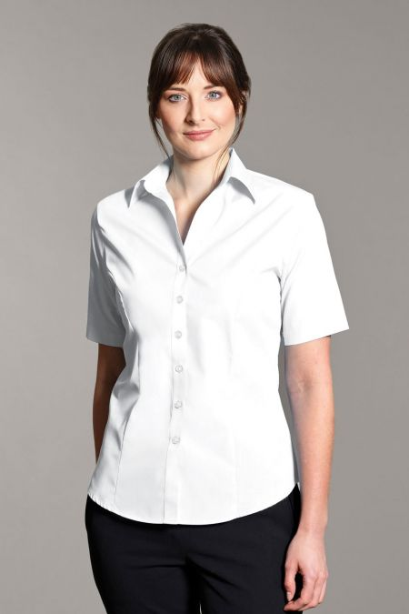 Disley Brianna short Sleeve Self-Stripe Blouse