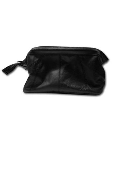 Gladstone Leather Washbag Cosmetic Bag