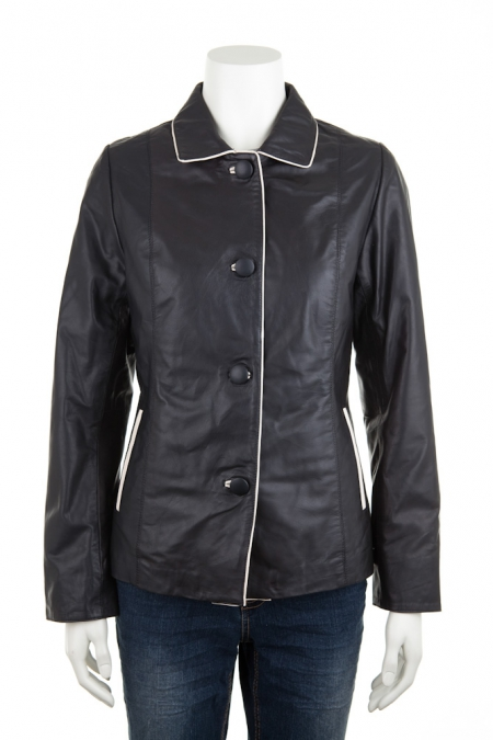 Leather Contrast Jacket