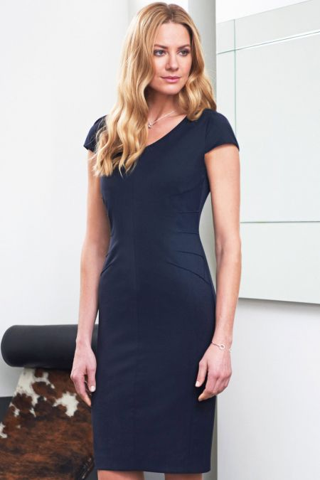 Marino Capped Sleeve Shift Dress