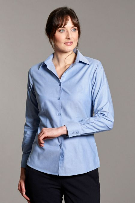 Moria Semi Tailored Classic Oxford Blouse by Disley
