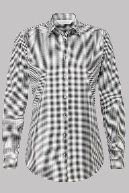 Rosheen Long Sleeve Gingham Blouse