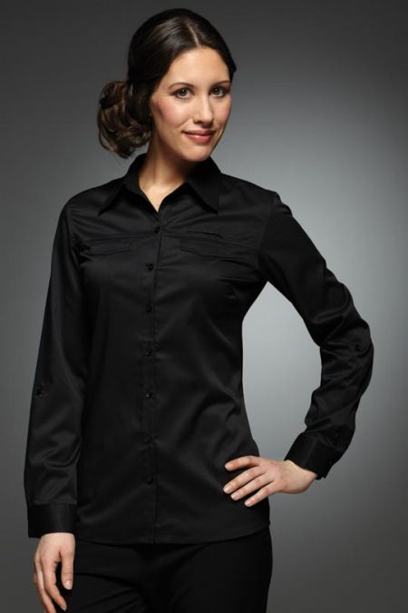 Yasmin Roll-Up Long Sleeve Blouse