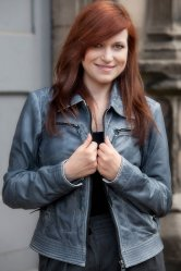 Ladies Grey Harrington Zipper Jacket from Woodland Leathers